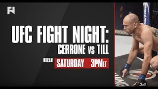 UFC Fight Night: Cerrone vs. Till LIVE Saturday on Fight Network