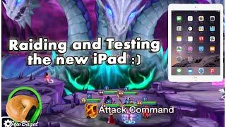 SUMMONERS WAR : Raiding and Testing the new iPad