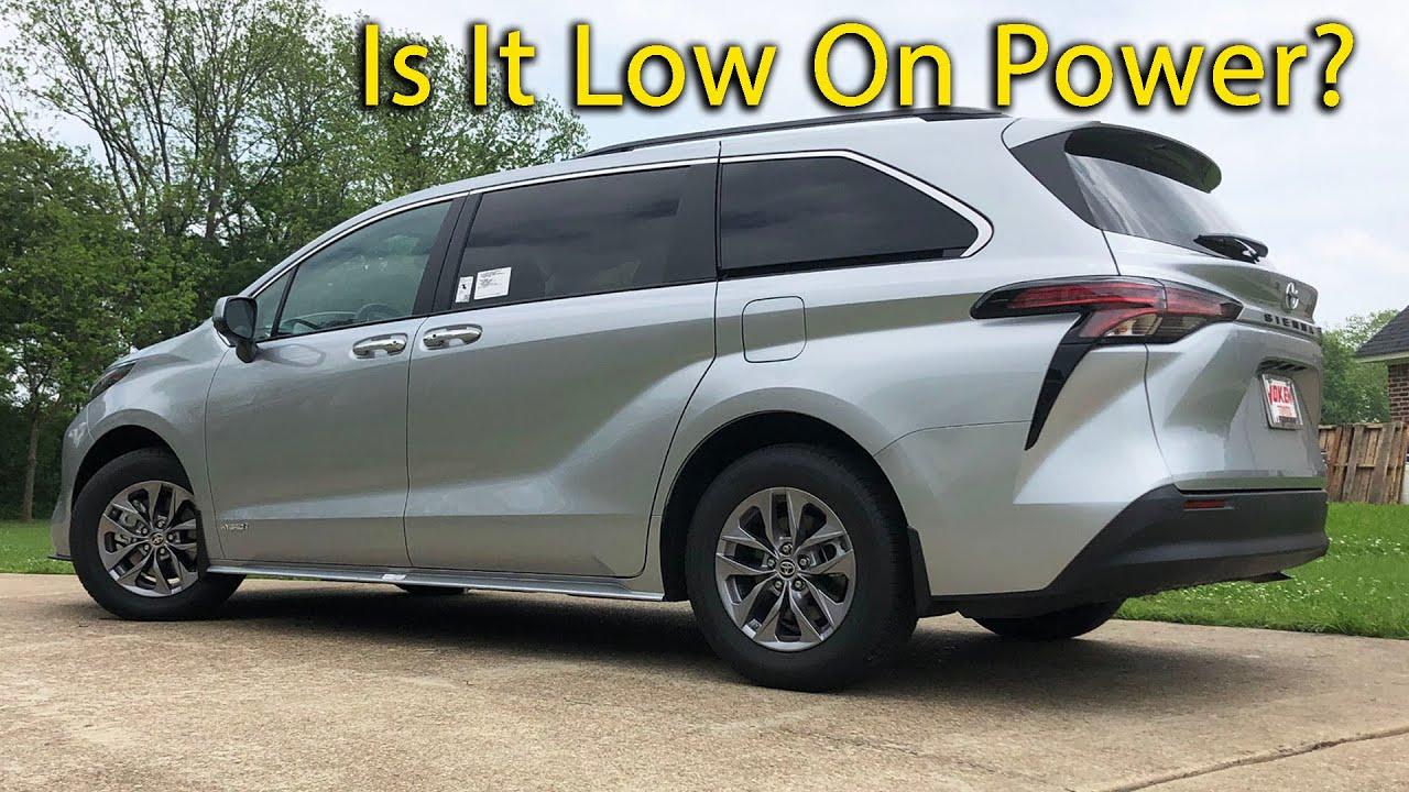 Is The 2021 Toyota Sienna An Underpowered Minivan?
