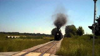 IAIS 6988 Steam 9-11 tribute whistle blow at South Amana at noon