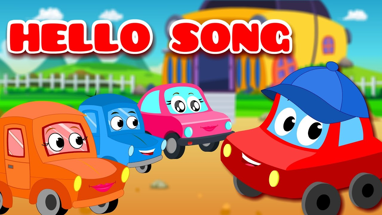 hello song car rhyme kids song youtube
