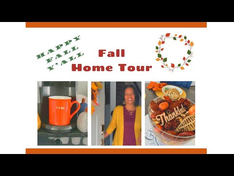New! 🍁2019 🍁FALL HOME TOUR   FALL DECORATING  AFFORDABLE DECOR 