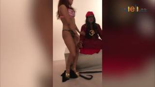 Model in Bikini seduces Om Swami with an erotic dance
