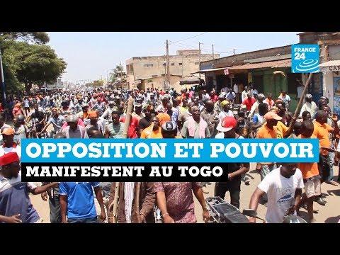 IMAGES FRANCE 24 - Opposition et pouvoir manifestent au Togo
