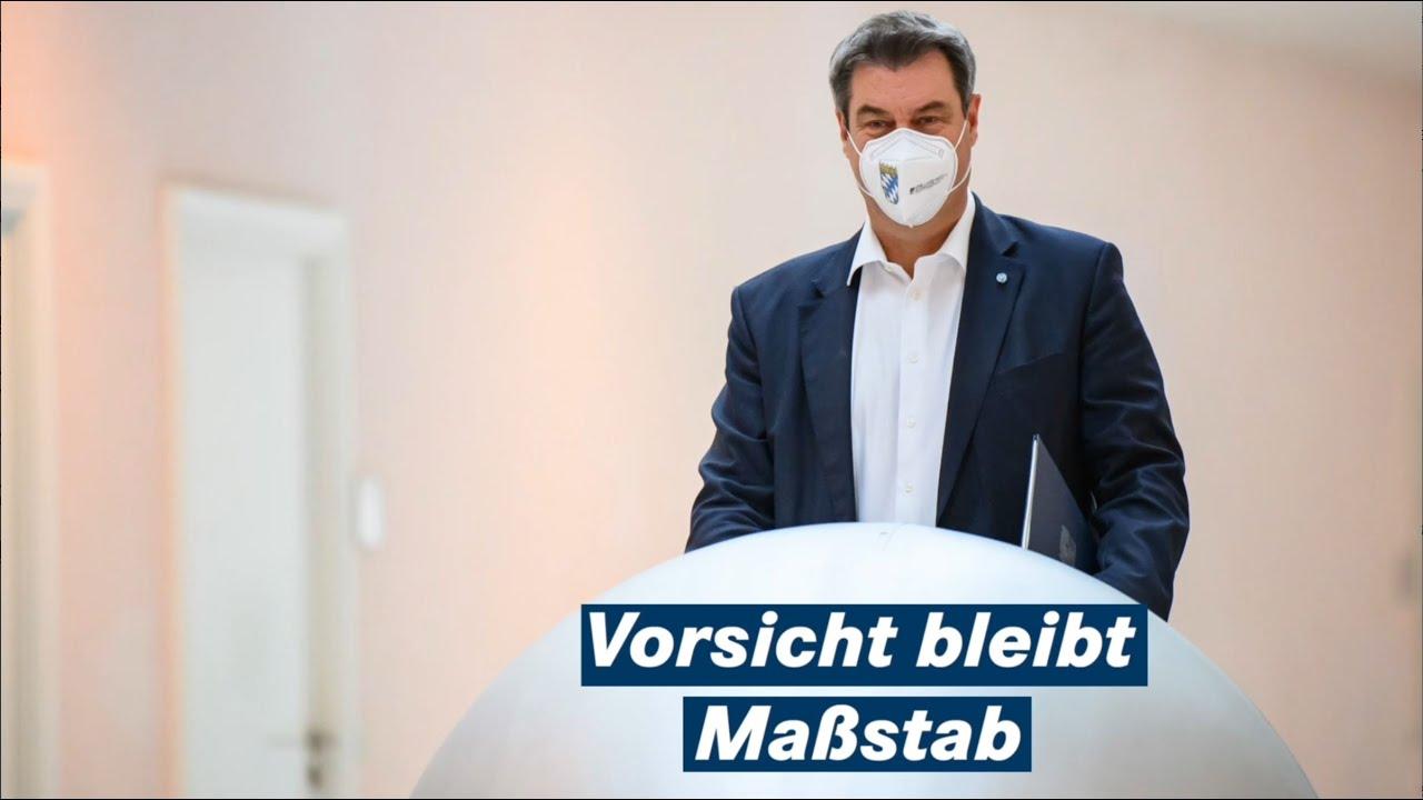 Ministerpräsident Dr. Markus Söder nach der Kabinettssitzung vom 04. Mai 2021 - Bayern