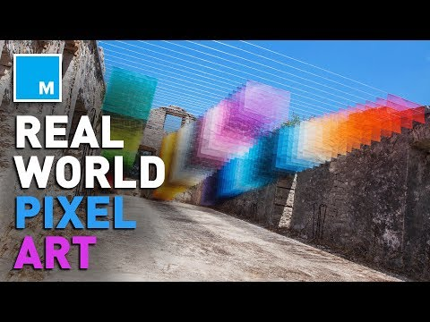 Color-Changing Giant Pixels In Real Life [COOL QUOTIENT]
