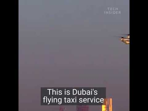 World's 1st only in Dubai - Air Taxi