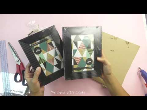 DIY Photo Frame | DIY Old Into New | Recycle Photo Frames | Makeup Table Organiser 2018 Home Decor