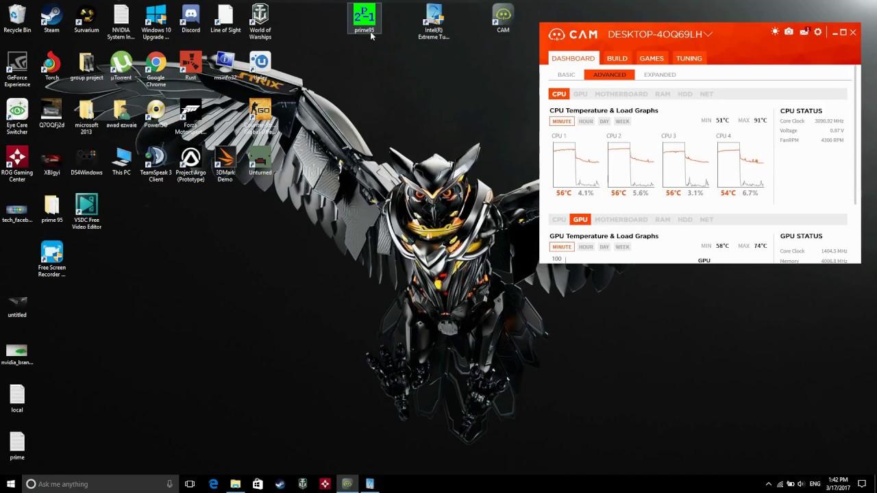 I7 6700hq overclock settings