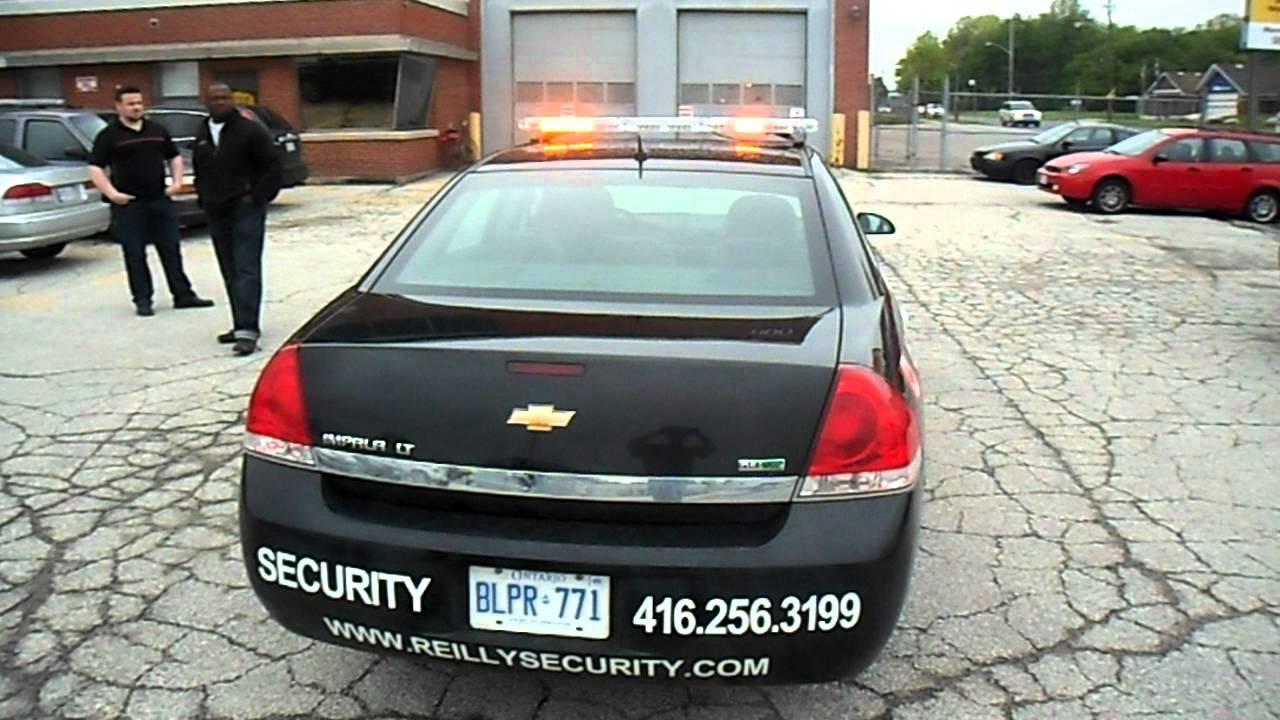 Responder led lightbar installed on reilly security 2009 chevy responder led lightbar installed on reilly security 2009 chevy impala youtube aloadofball Choice Image