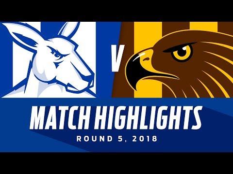 Match Highlights: North Melbourne v Hawthorn | Round 5, 2018 | AFL