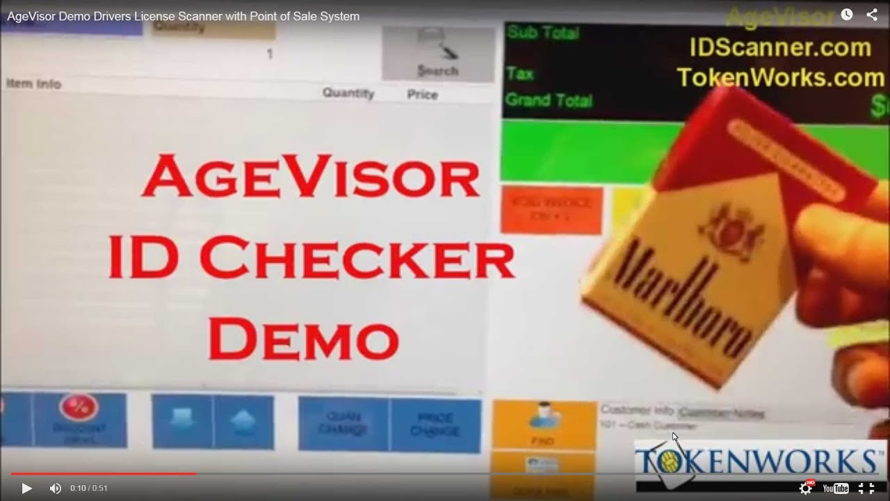 AgeVisor Demo Drivers License Scanner with Point of Sale System