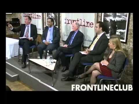 Barak Seener, RUSI Middle East Fellow speaking on the Arab Spring at the Frontline Club