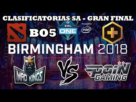DOTA 2 EN VIVO - Mad Kings vs Pain Gaming BO5 Clasificatorias SA Major Birmingham 2018