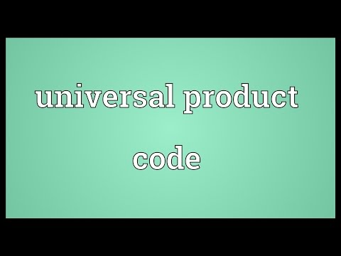Universal product code Meaning
