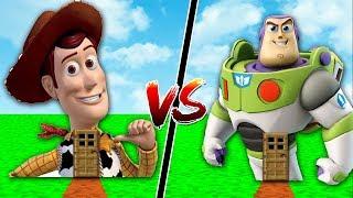 CASA WOODY vs CASA BUZZ LIGHTYEAR NO MINECRAFT !! (TOY STORY 4)