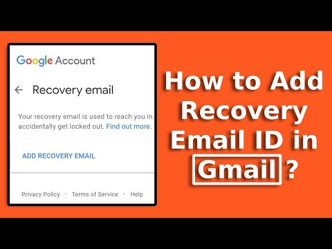 How To Add Recovery Email ID In Gmail | Change Recovery Email In Google In Android