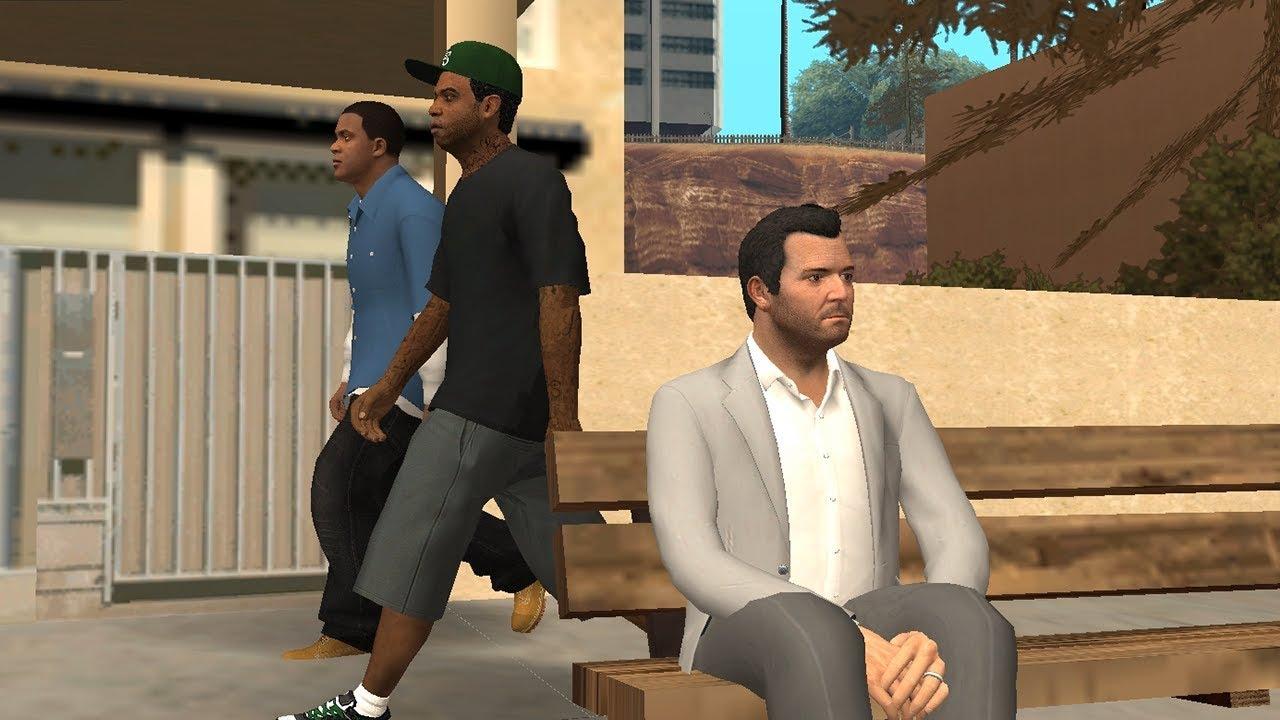 Playing GTA 5 in GTA San Andreas
