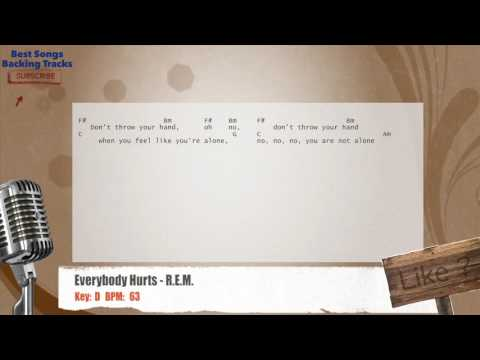 Everybody Hurts - R.E.M. Vocal Backing Track with chords and lyrics