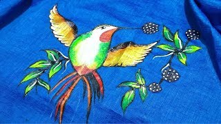 Easy Fabric Painting Design for Cloths (Kurti,Pillow, Handkerchief...)