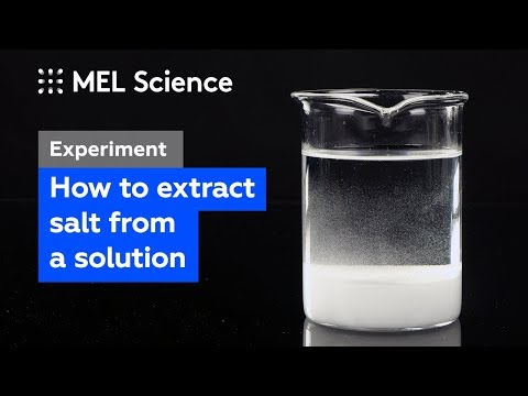 How To Extract Sodium Chloride From Its Solution (