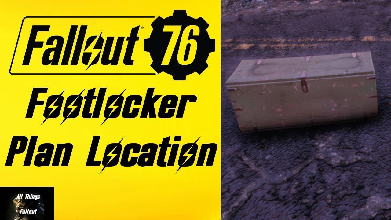 Fallout 76 Footlocker Plan Location