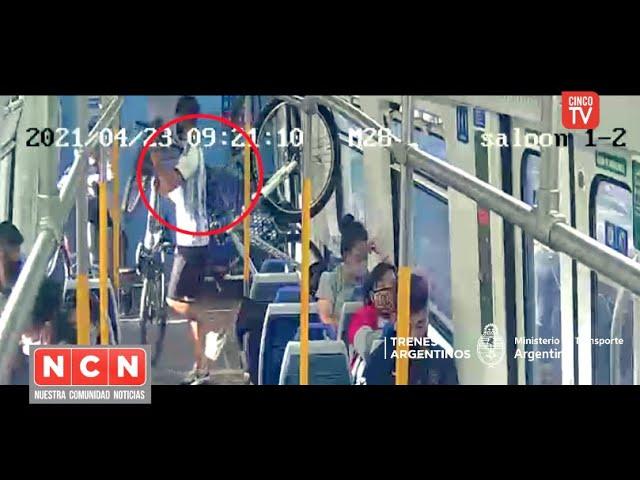 CINCO TV - Roba bicicleta en el tren y todo quedó registrado por las cámaras