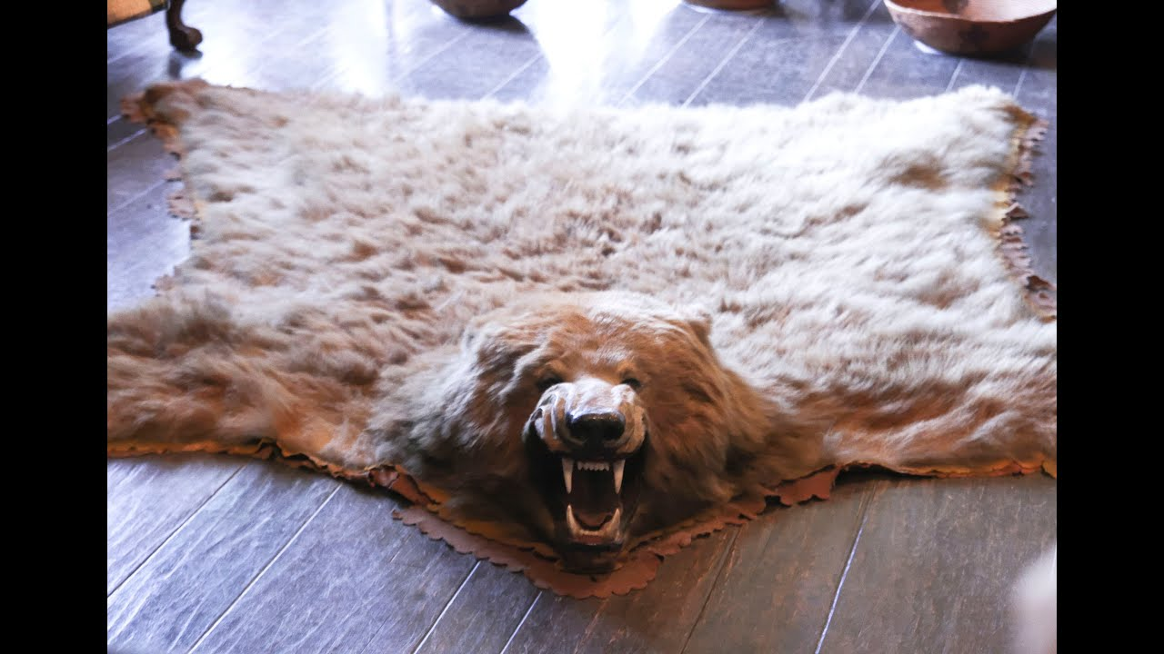 faux bear rug with head | Roselawnlutheran