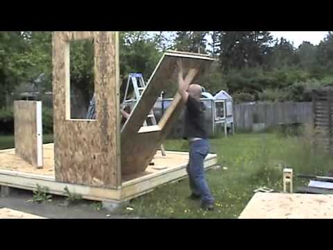 Building a shed with sips youtube for Building with sip