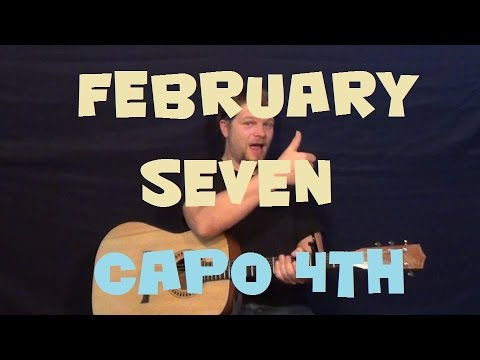 February Seven (The Avett Brothers) Easy Strum Guitar Fingerstyle How to Play Tutorial