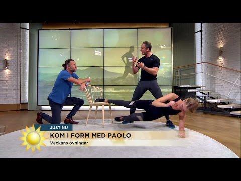 Kom i form med Paolo: Veckans övningar - Nyhetsmorgon (TV4)
