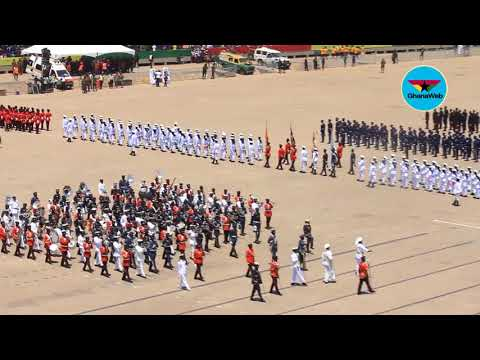 61st Independence Parade:  March past by Ghana Armed Forces and other Security services