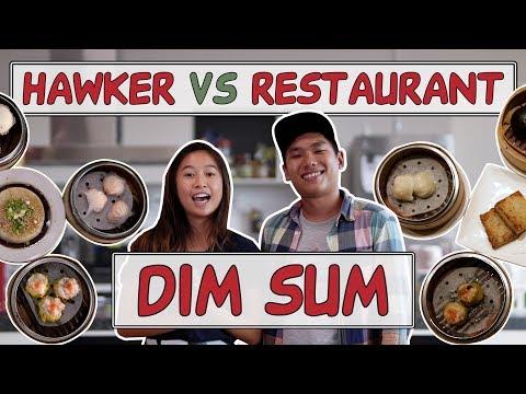 HAWKER VS RESTAURANT   Dim sum: Siew Mai, Har Gao, and Liu Sha Bao   EP 3