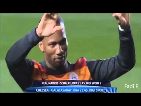 Didier Drogba GIVES A KISS to Chelsea Fans - Chelsea 2-0 Galatasaray 18/03/2014 HQ