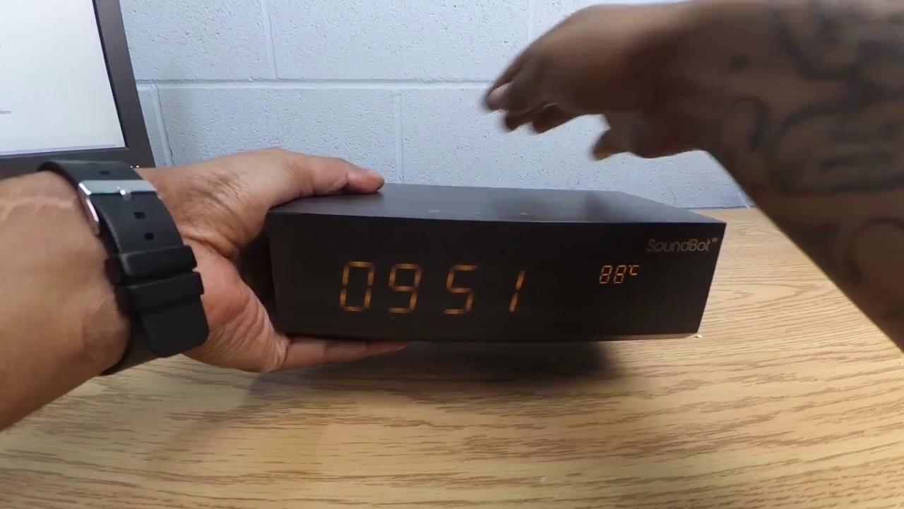 美國聲霸 鬧鐘床頭音響 廣播藍芽喇叭sb1011FM Alarm Clock Soundbot SB1011 - YouTube