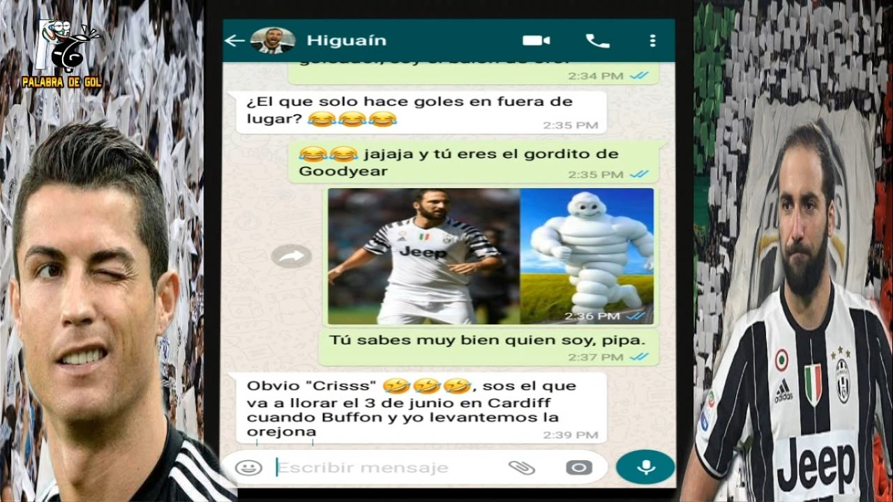 El whatsapp de cristiano ronaldo con higua n real vs for Real madrid oficinas telefono