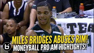 Miles Bridges DUNKS Everything! Michigan State Star Scores 33 In Moneyball Pro Am!