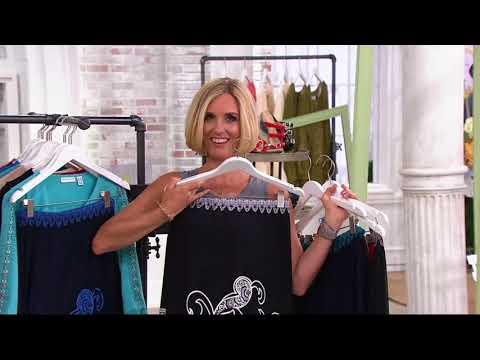 4cfb61d1b0 Susan Graver Printed Liquid Knit Maxi Skirt on QVC - YouTube