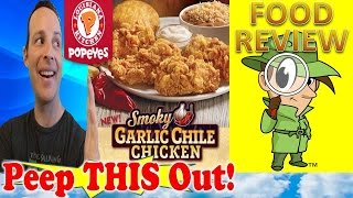 Popeyes® Smoky Garlic Chile Chicken Review! Peep This Out!