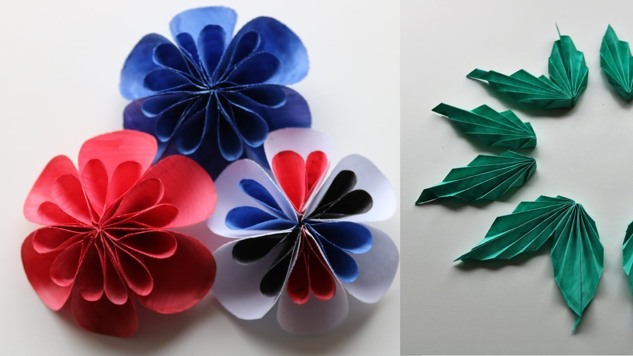 Paper flower leaf using bond paper diy kusudama flowers making paper flower leaf using bond paper diy kusudama flowers making paper craft mightylinksfo