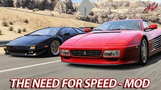 The Need For Speed - Modpack 1 | Assetto Corsa [HD] [GER] Ferrari 512TR @ Black Cat County
