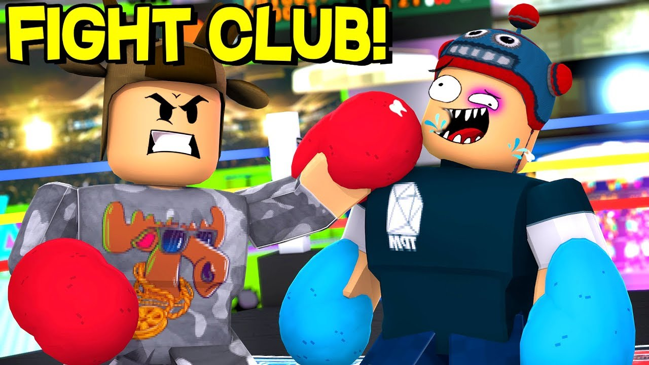 joining fight club   roblox boxing simulator