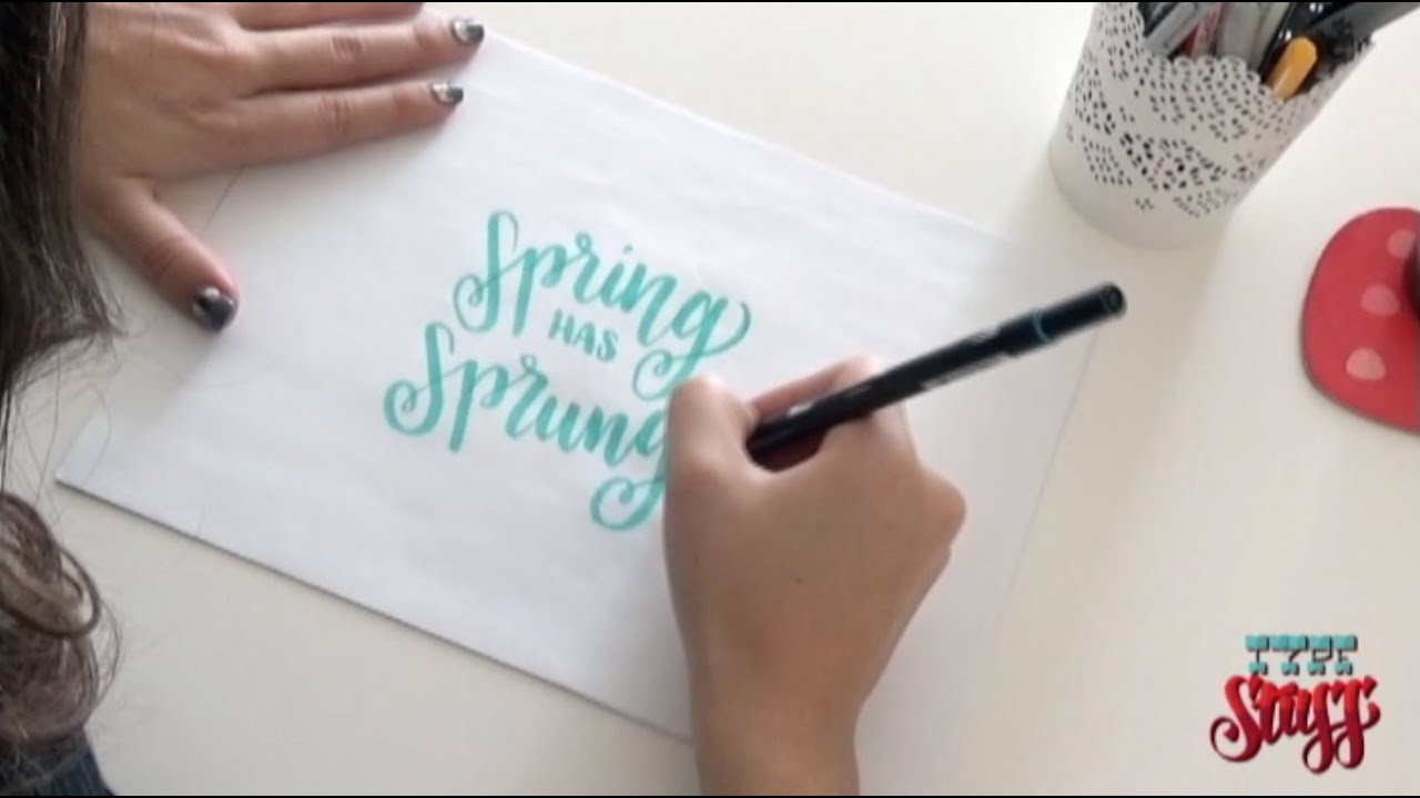 Hand lettering brush pens tombow tutorial demo youtube