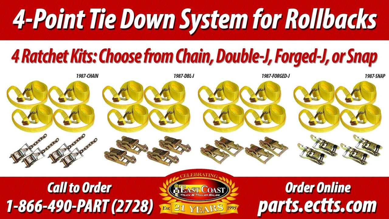 How To Use A 4 Point Tie Down System For Flatbed Tow