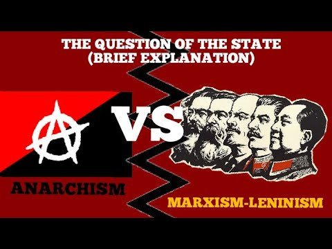 THE QUESTION OF THE STATE   MARXISM-LENINISM VS ANARCHISM   BRIEF EXPLANATION