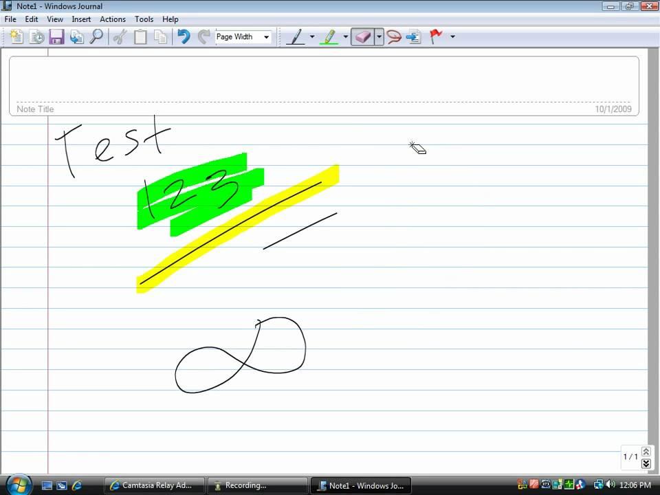 using windows journal youtube