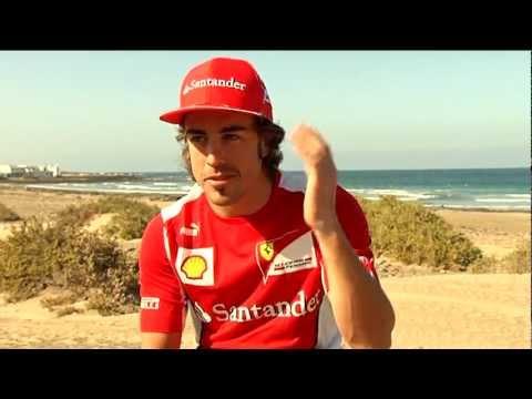 Ferrari F1: Fernando Alonso at Lanzarote training camp