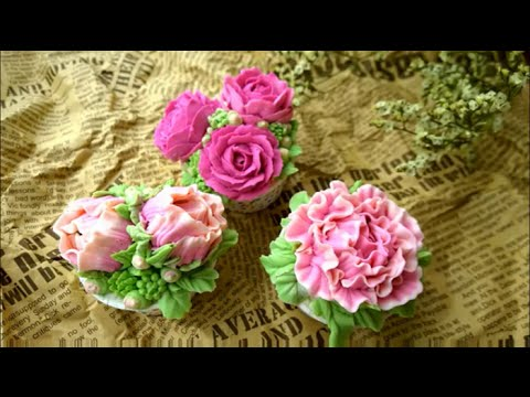 How to make butter cream and butter flower. Cupcake with buttercream flower