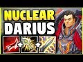 NUCLEAR ONE-SHOT DARIUS! 100% INSTANT KILLS WITH W! (INSANE DAMAGE) - League of Legends