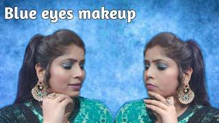 #Eyemakeuptutorial#BlueEye#Glitter Blue somokey eye makeup tutorial || (Glitter)sky blue eye makeup